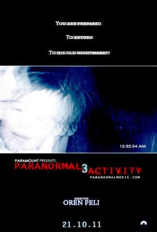 Parajelenségek 3, film plakát