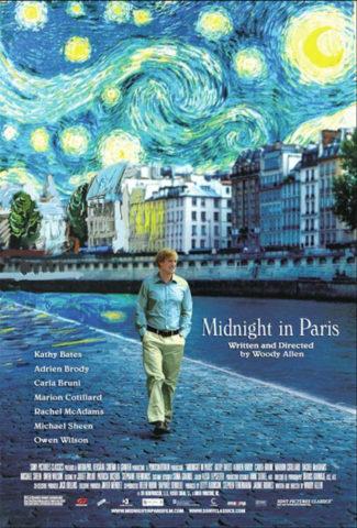 Éjfélkor Párizsban, film plakát