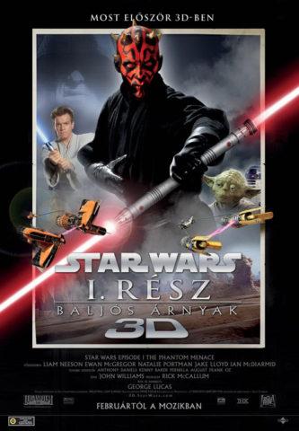 Star Wars I. rész: Baljós árnyak 3D, film plakát