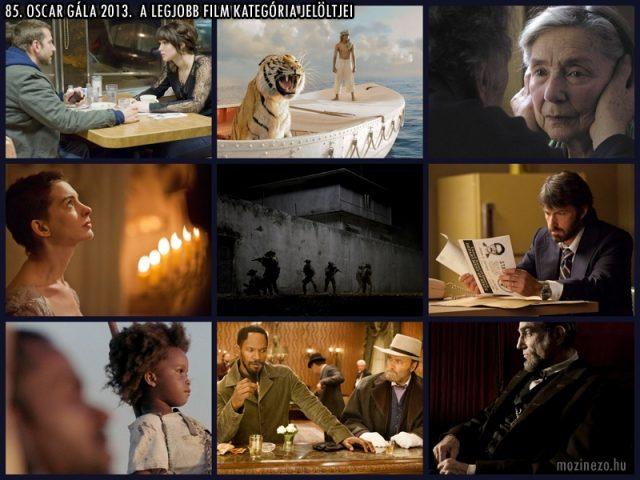 85. Oscar 2013 Legjobb film jelöltek
