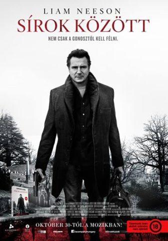 Sírok között, mozi poszter