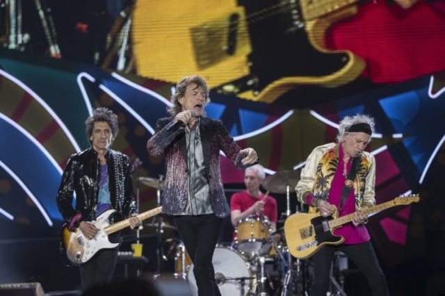 SANTIAGO, CHILE - FEBRUARY 03: Mick Jagger, Ronnie Wood, Keith Richards and Charlie Watts of The Rolling Stones perform live on stage during the America Latina Ole Tour 2016 at Estadio Nacional on February 03, 2016 in Santiago, Chile. (Photo by Carlos Mueller/Getty Images for TDF Productions)