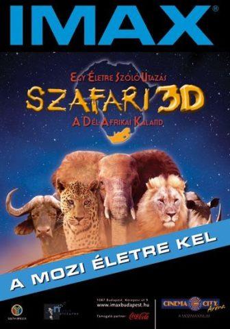 Szafari 3D mozi poszter