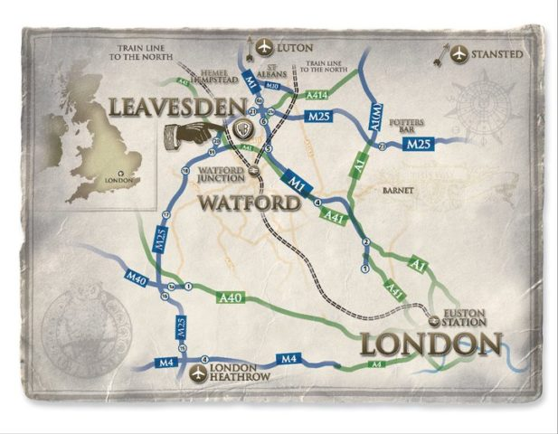 Harry Potter Múzeum, térkép - Leavesden, Anglia