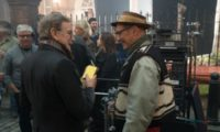 Steven Spielberg and Mark Rylance on the set of Disney's fantasy-adventure, THE BFG, directed by Steven Spielberg and based on the best-selling book by Roald Dahl.